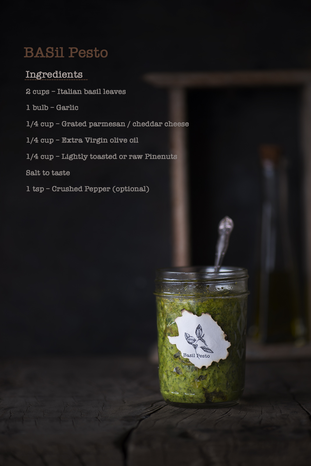 Learn how to make Basil Pesto with this easy peasy recipe using Fresh Basil leaves, Garlic, Pine nuts, Parmesan Cheese and Olive oil. Basil Pesto is one of basics in Italian dishes.