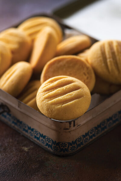 Melting Moments/Eggless Custard cookies