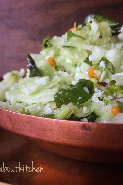 SOUthekaayi Kosambari – Cucumber Salad