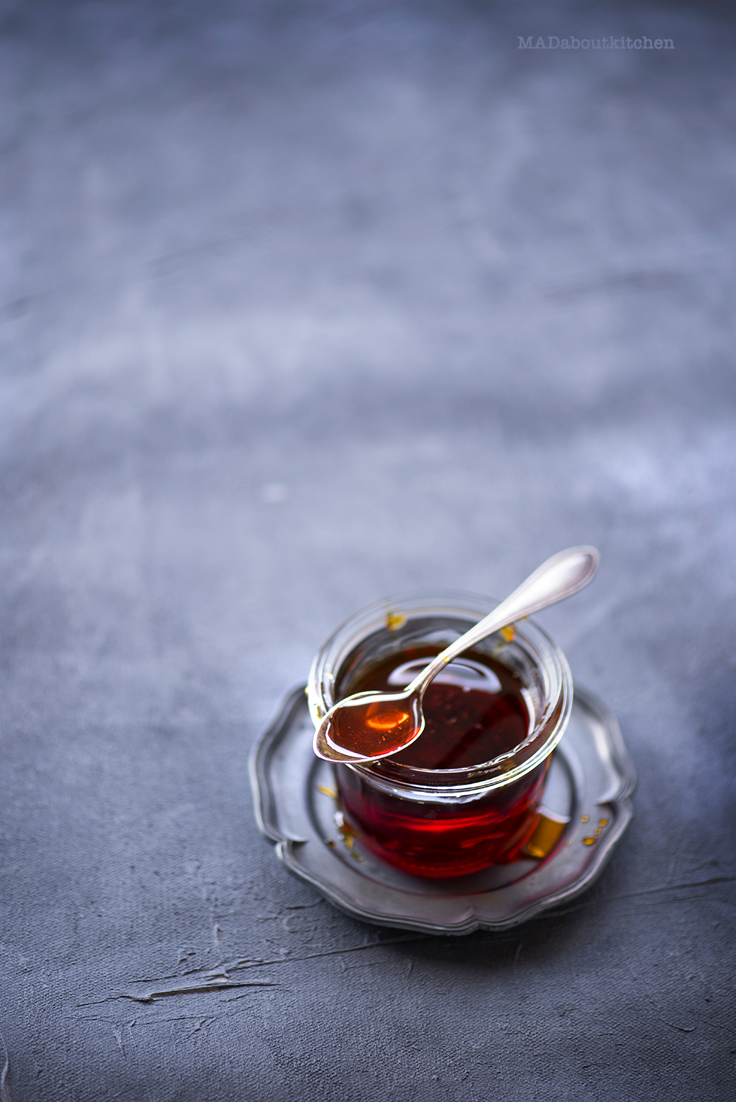 Caramel Syrup, is made by caramelising sugar. Caramel Syrup resembles Honey or Maple Syrup and is a basic syrup that is vastly used in desserts.