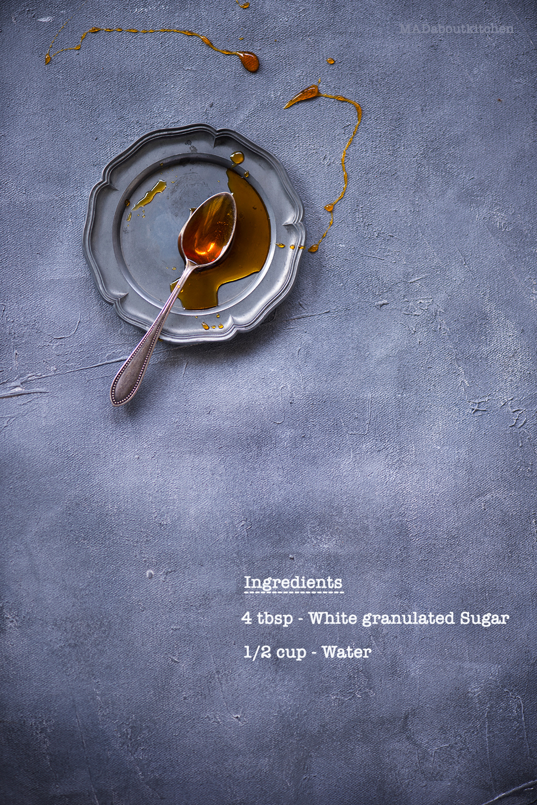 Caramel Syrup, is made by caramelising sugar. Caramel Syrup resembles Honey orMaple Syrup and is abasic syrup that is vastly used in desserts.