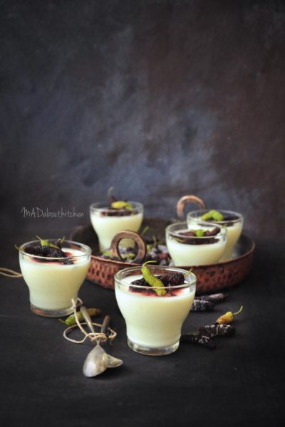 VANilla Panacotta with Mulberry Compote