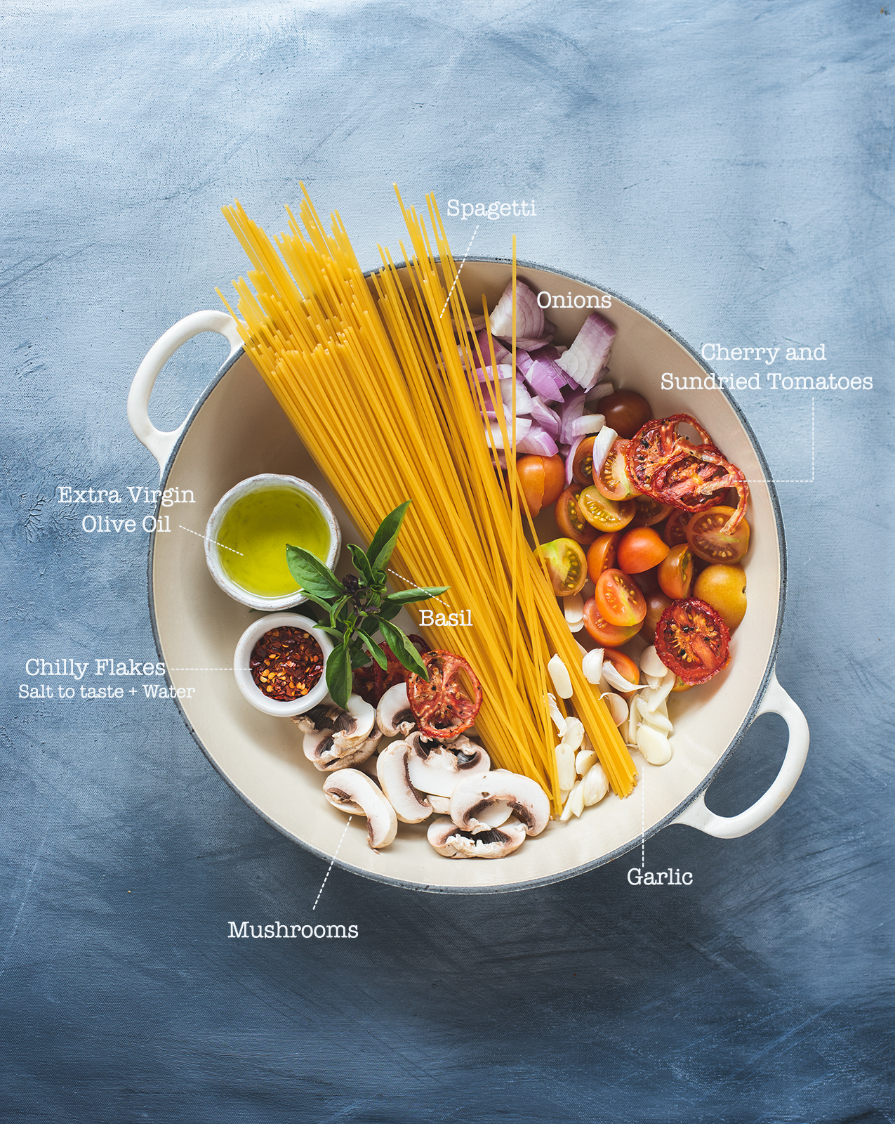 One Pot Pasta, the name itself is self explanatory. Chop ,add everything into one pot and cook and a hearty meal for the family is ready.