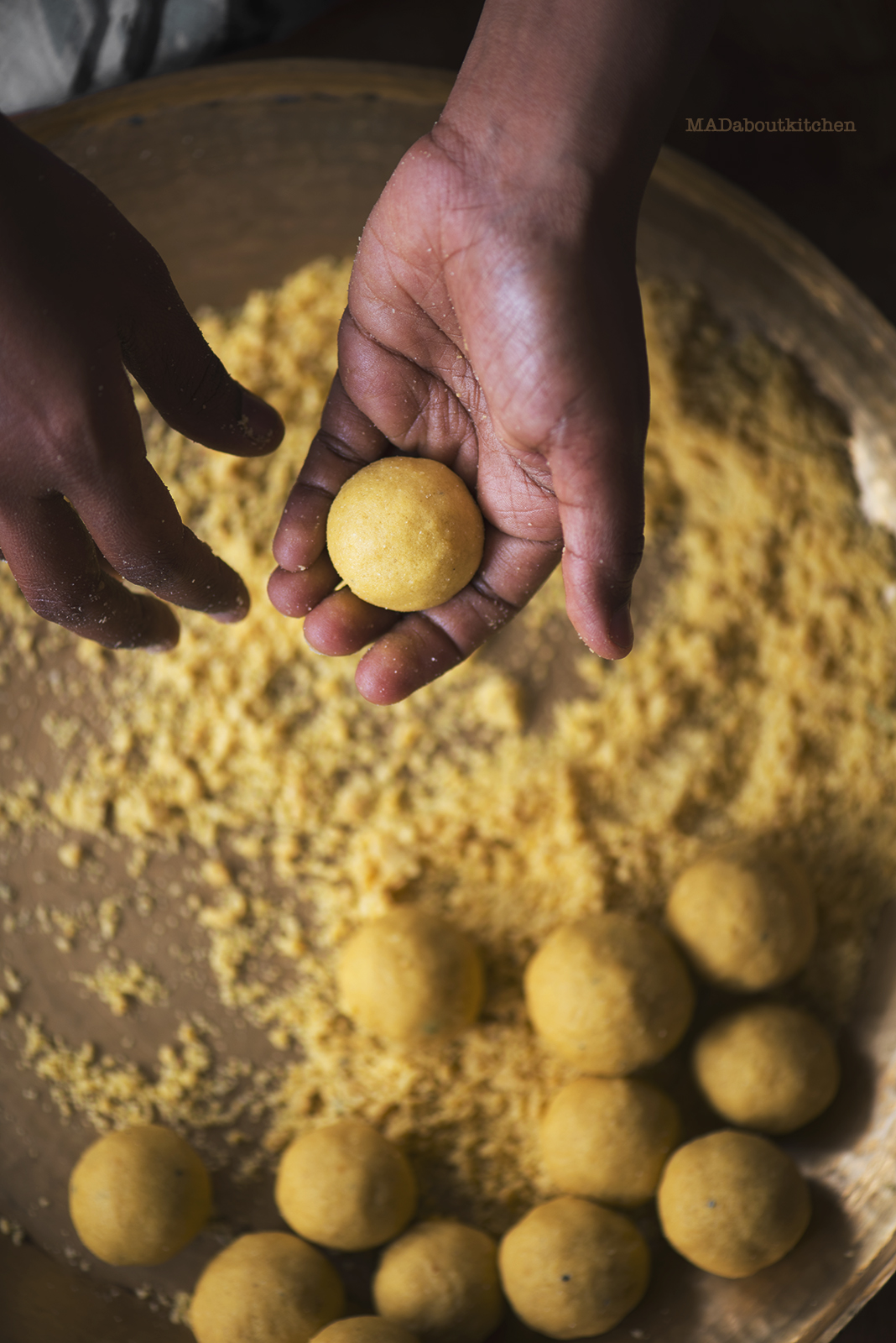 Make Homemade Besan Ladoo or Gram flour balls, one of the most common, healthy and most easiest ladoos made in India with this easy recipe.