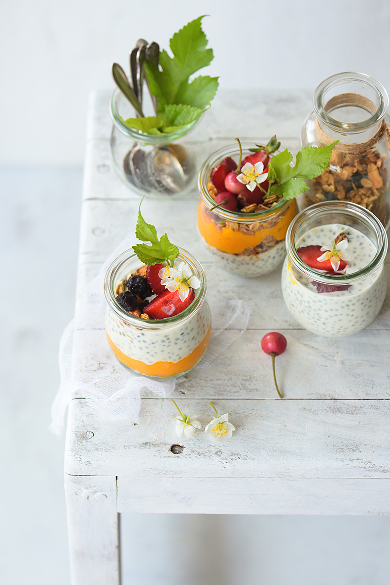 Mango Chia seed jars and easy, quick, beautiful dessert that can be served anytime of the day on any occasion. It is a beautiful looking dessert and it gives an option of playing around with colours, textures and flavours.