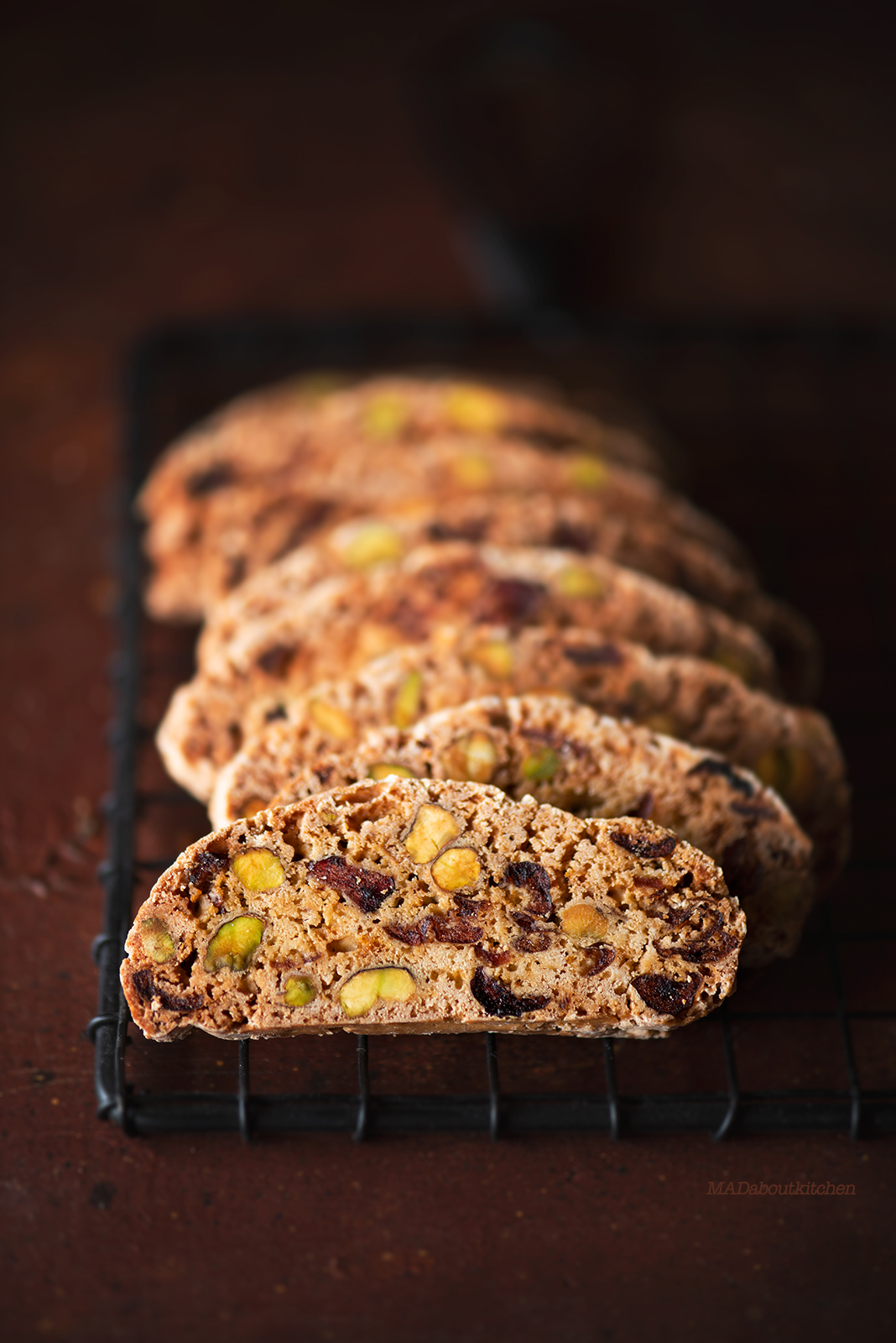 Pistachio Cranberry Biscotti with Orange zest is the perfect tea time snack for this Christmas. Biscotti is a traditional Italian pastry which are crispy and crunchy.