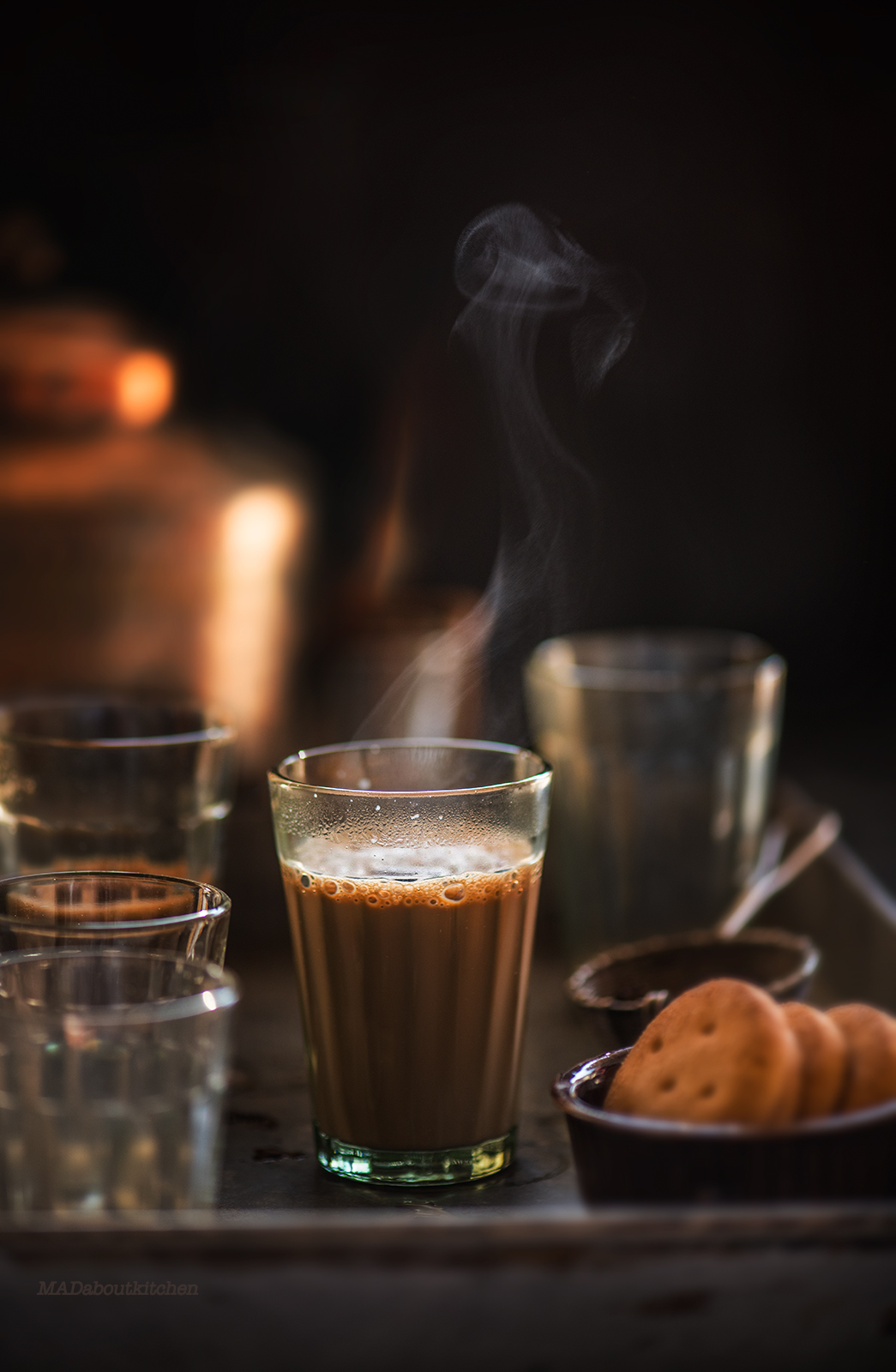 Masala Chai, is the most common drink of India. Milk based tea can be infused with lots of ginger, cardamom, pepper, cinnamon, fennel and mint.