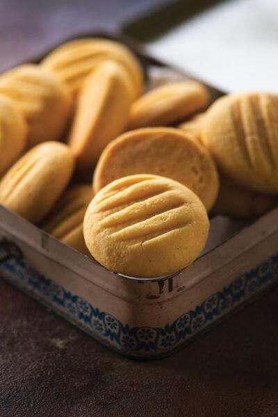 Melting Moments/Eggless Custard cookies