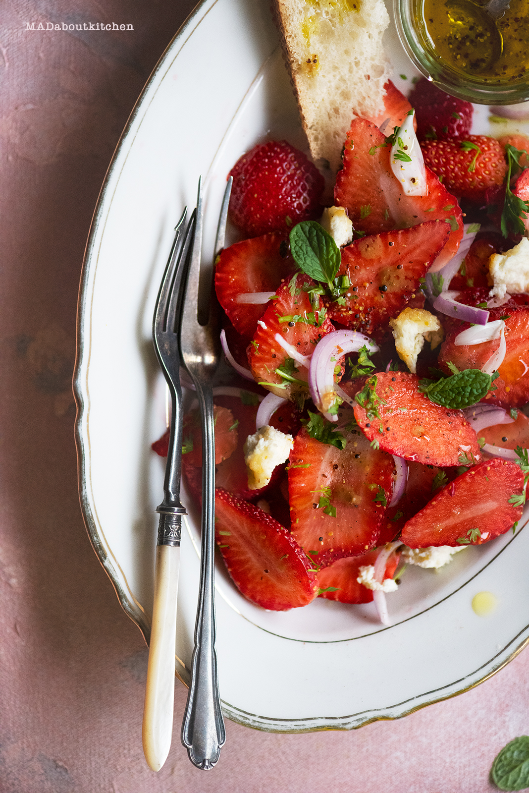 Strawberry Salad is fresh and light making it perfect for the summer.This salad is light and fresh making it perfect for this summer.
