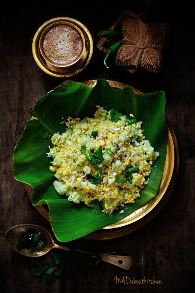 Kosambari is the most common dish in our house. Not only is it a must during festivals, it is also made as an evening snack and served along with hot, foamy filter coffee. A very very healthy option for snacks.