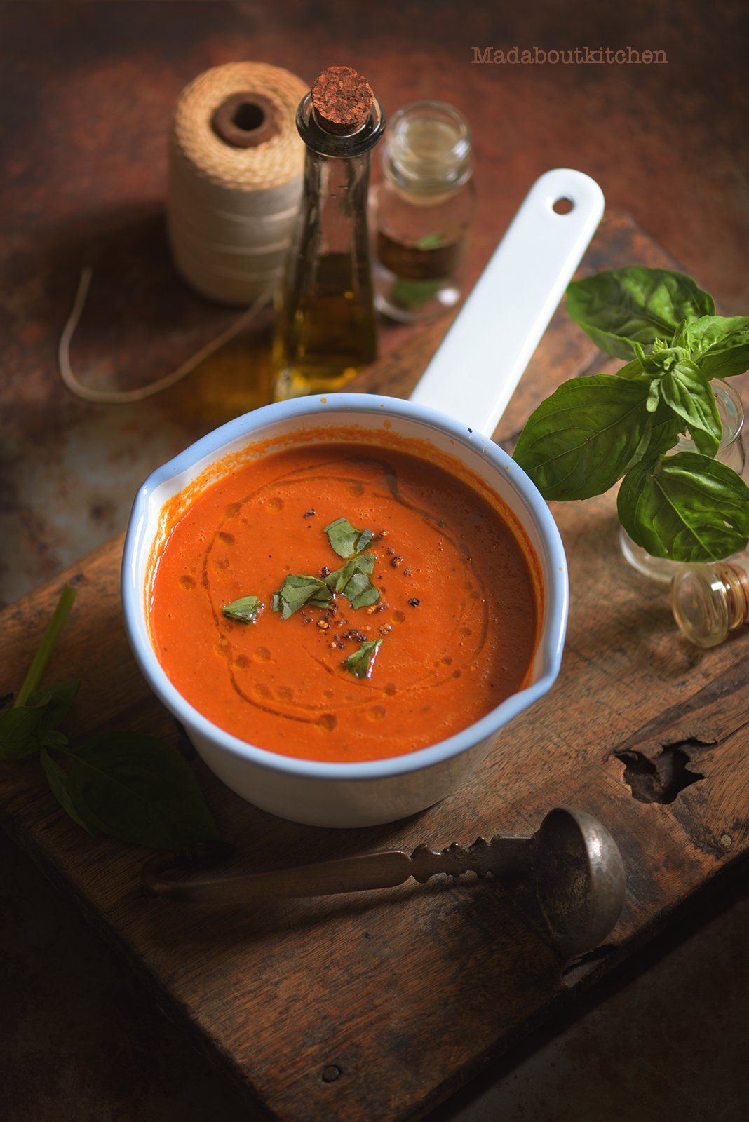 Roasted tomato Soup is one of the basic, easiest soup to make yet with complex flavours.