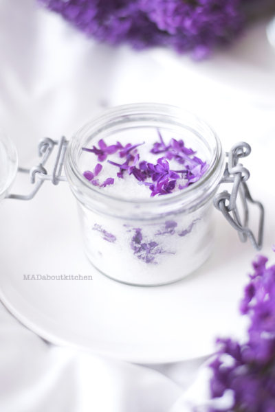 Homemade Lilac Sugar or Infused Sugar is a simple way to take a dish to a next level. Homemade Lilac Sugar is full of flavour and is  perfect for Baking and Tea. Lilac flowers are not only beautiful, but so so fragrant and so perfect for infusing.