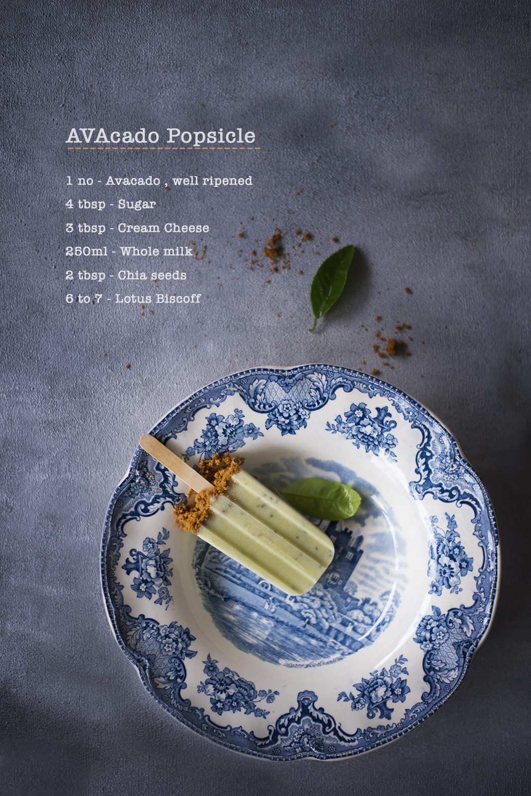 Avocado Chia Seed Popsicle is one of the most easiest and fun popsicle you can make. Avocado being creamy in nature makes this popsicle so much more creamier and rich.