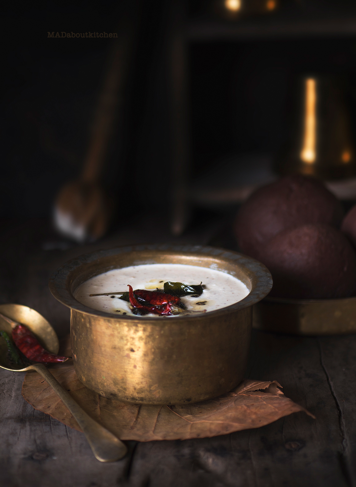 si Majjige Huli, means raw yogurt curry. This is a mild flavoured curry made with soaked lentil specially with Ragi mudde.