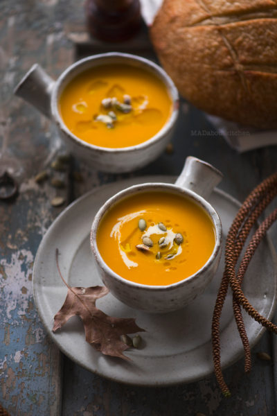 Pumpkin Soup is one of the most common, most basic soups that is made at home.Pumpkin Soup is creamy, thick, smooth and filling.