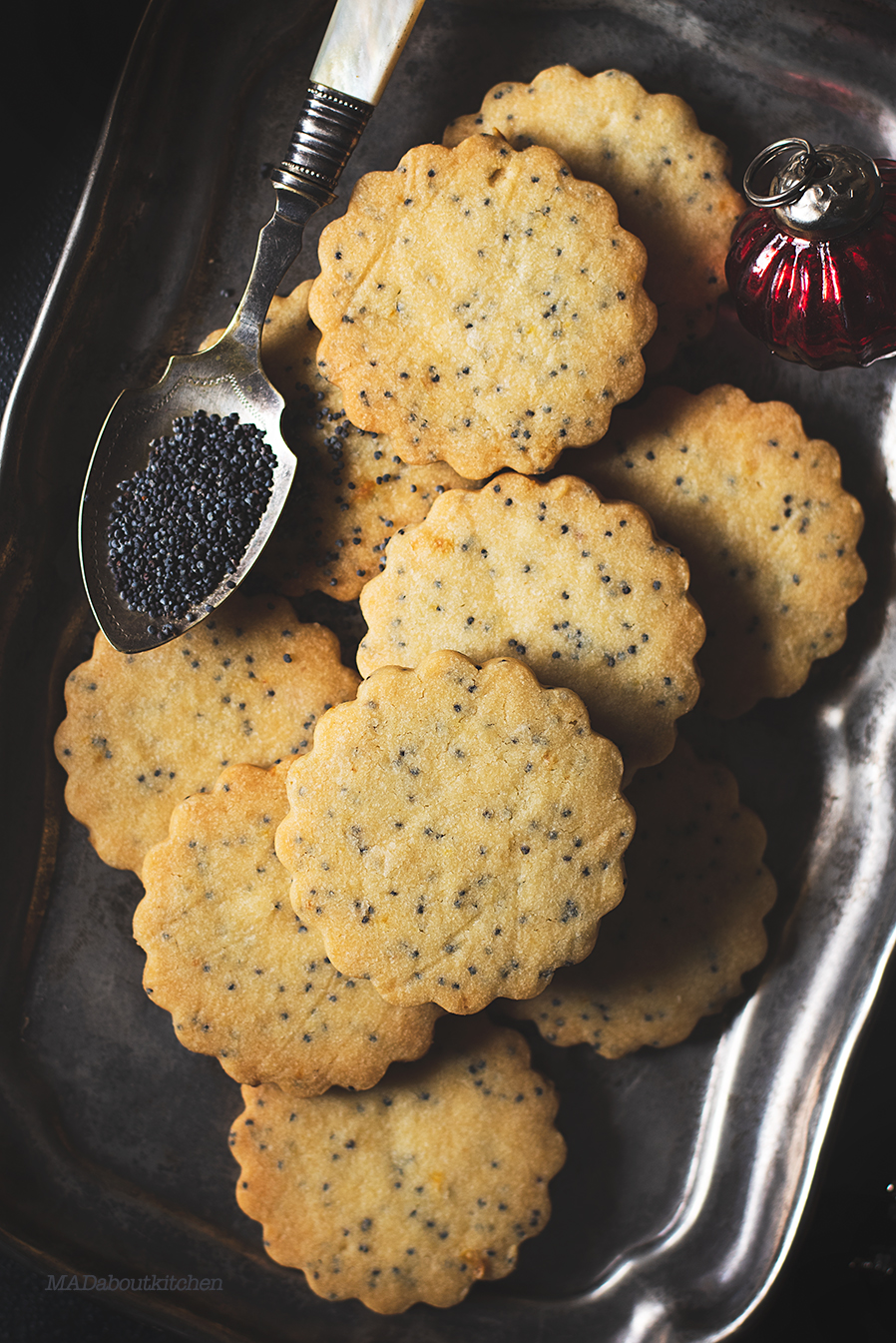 Eggless lemon Poppy Seed Cookies are buttery, melt in your mouth and super simple to make. The black poppy seeds make it look pretty and delicate.