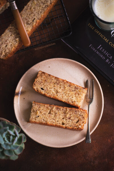 Best and simple banana bread, as the name suggests is best because it has the perfect texture and simple because it is almost one bowl recipe.