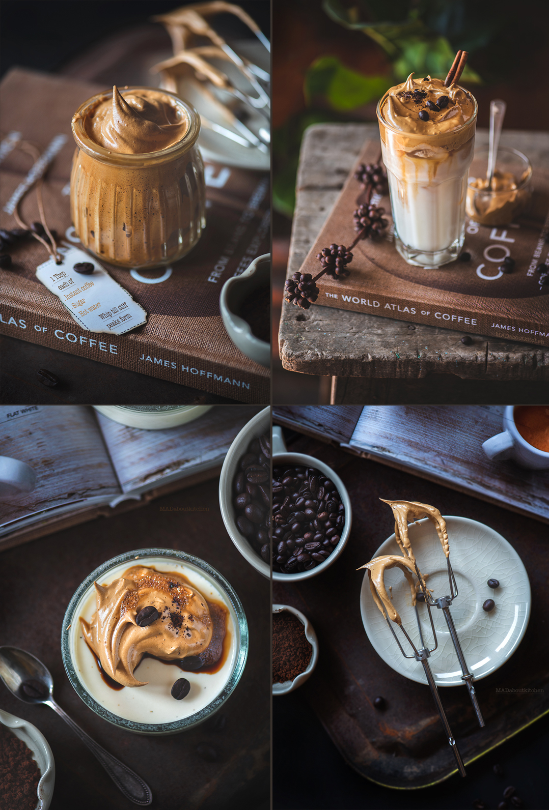 Dalgona Coffee Panacotta is a variation of the Dalgona Coffee or the whipped coffee. This is vanilla coffee topped with whipped coffee.