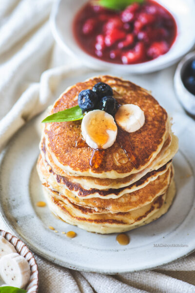 Ricotta Pancakes or Chenna pancakes are one of the most fluffiest of pancakes. Adding cheese makes the pancakes so much more fluffier.