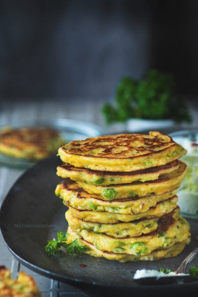 Cucumber fritters are breakfast pancakes made using cucumber, ricotta cheese and gram flour . These are soft inside and crispy on the out.