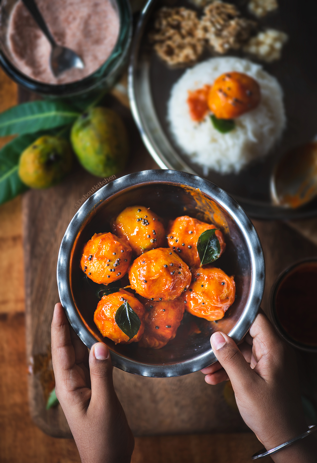 Maavina hannu khara made using small magoes is the a rustic, instant mango curry yet the most yummiest dish that can be had with rice or enjoyed on its own.