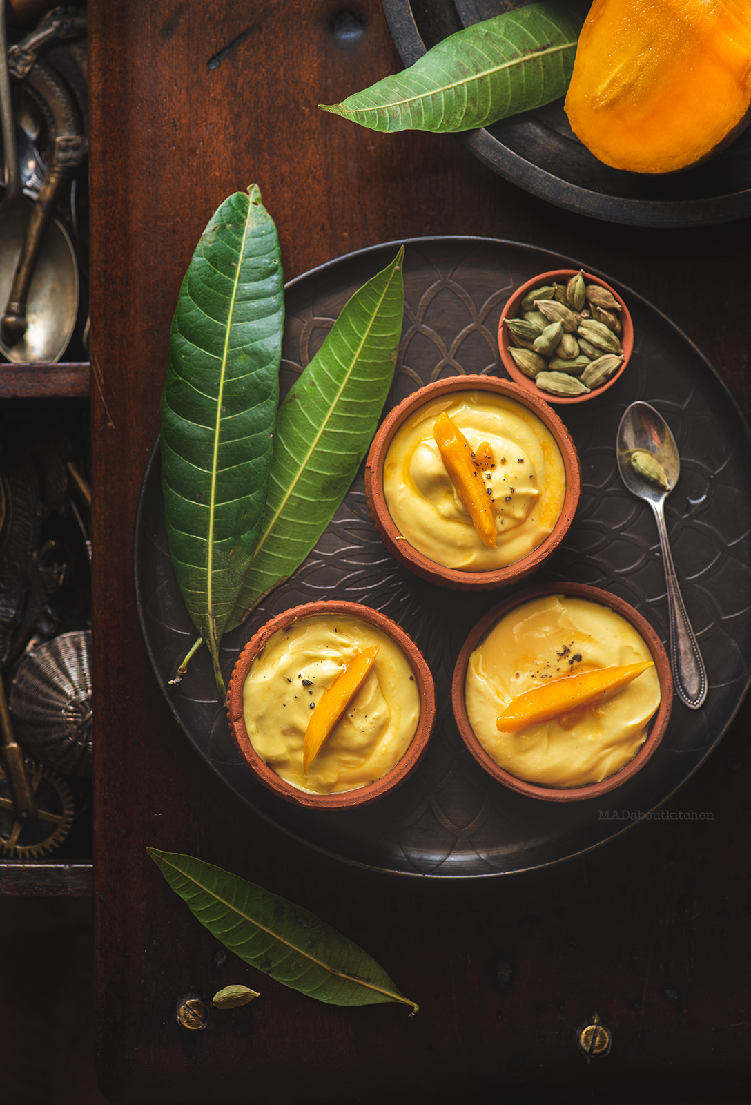 Mango Shrikhand is nothing but Mango flavoured yogurt that is absolutely rich,silky and creamy and is served chilled as dessert or with Poori.