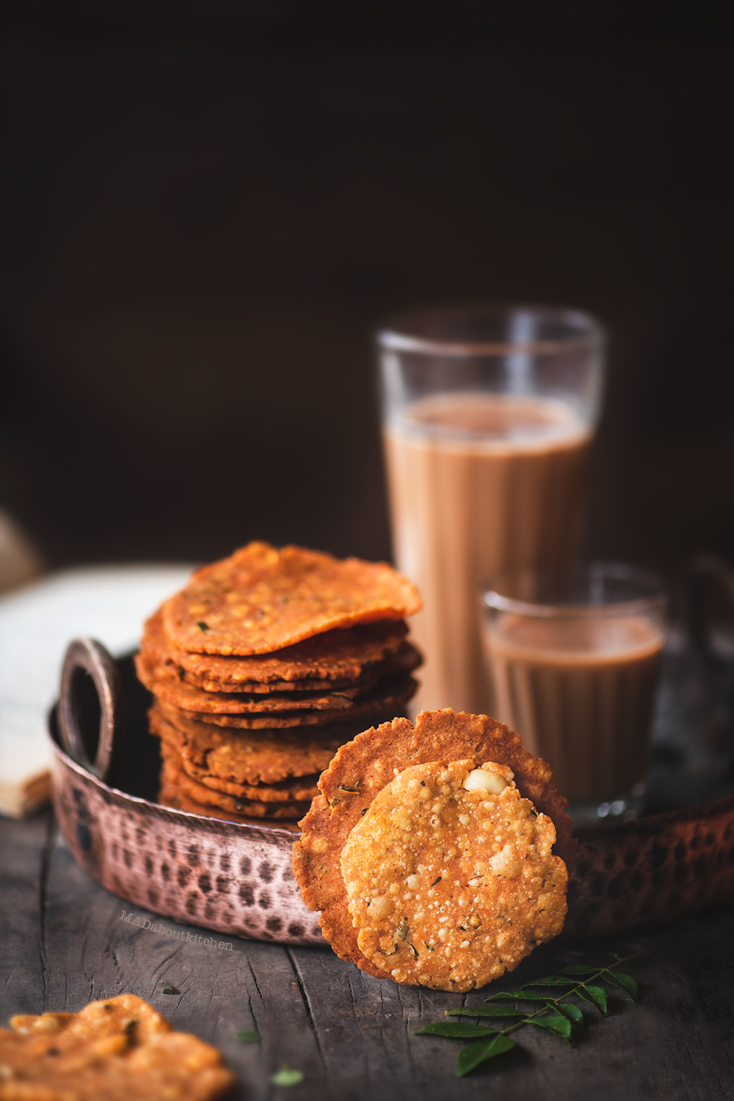Nipattu is a very simple deep fried snack made using rice flour and other spices. It is crispy and spicy and and is super addictive.