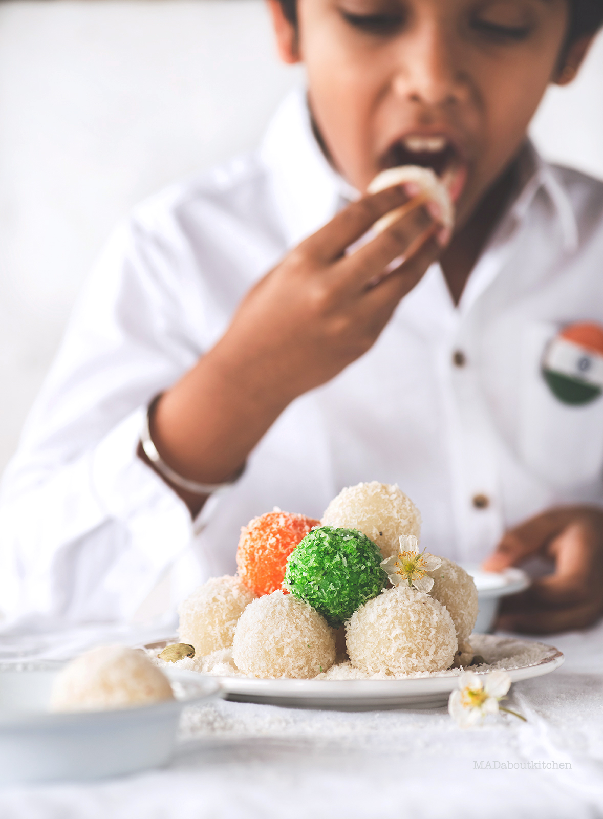 Coconut laddoo is soft laddoo made using fresh or desiccated coconut which is super simple to make and can be made using either sugar or condensed milk.