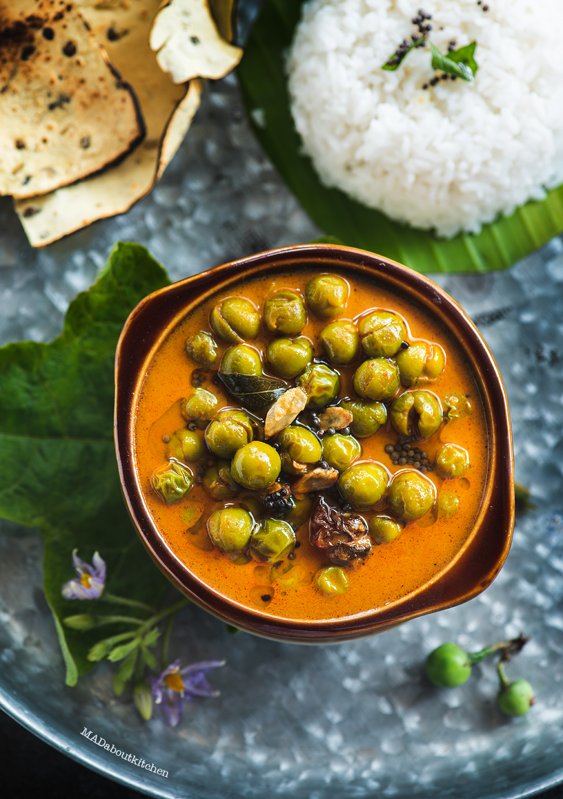 Sundekkayi Gojju is a creamy, spicy curry which is served usually with rice and tastes absolutely yummy which is made using foraged turkey berry.