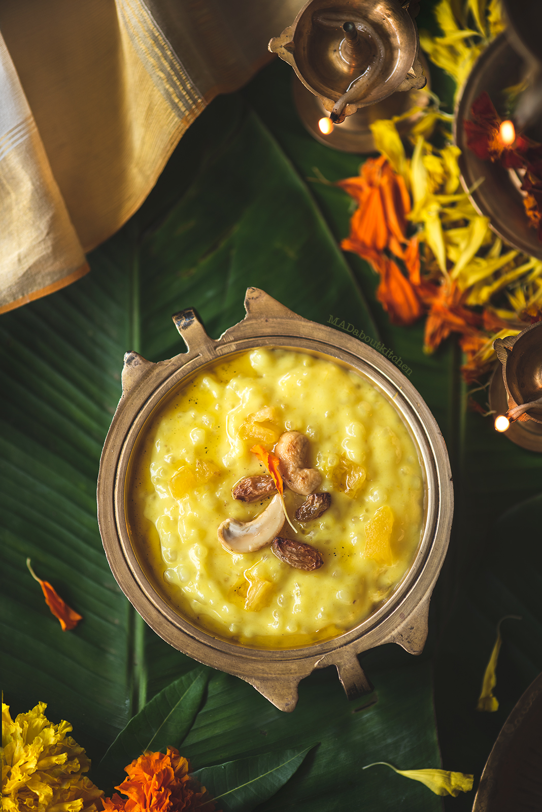 Pineapple payasam is a Kerala style Pineapple kheer specially made during Onam. Pineapple is cooked with Sago to make this creamy payasam.